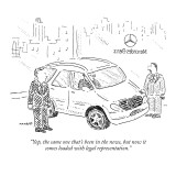 """""""Yep, the same one that's been in the news, but now it comes loaded with  …"""" - New Yorker Cartoon Premium Giclee Print by Robert Mankoff"""
