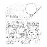 In a gym, with a track, weight machines and stationary bikes, Sisyphus is … - New Yorker Cartoon Premium Giclee Print by Mort Gerberg