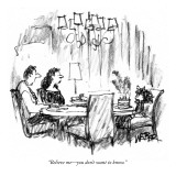 """Believe me—you don't want to know."" - New Yorker Cartoon Premium Giclee Print by Robert Weber"