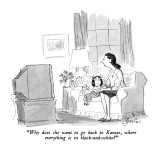 """Why does she want to go back to Kansas, where everything is in black-and-…"" - New Yorker Cartoon Premium Giclee Print by Edward Frascino"