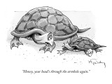 """Honey, your head's through the armhole again."" - New Yorker Cartoon Premium Giclee Print by Mike Twohy"
