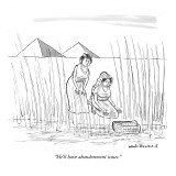 """""""He'll have abandonment issues."""" - New Yorker Cartoon Premium Giclee Print by Nick Downes"""
