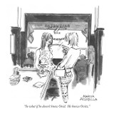 """So what if he doesn't know Ovid.  He knows Ovitz."" - New Yorker Cartoon Premium Giclee Print by Marisa Acocella Marchetto"