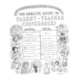 The Berlitz Guide to Parent-Teacher Conferences' - New Yorker Cartoon Premium Giclee Print by Roz Chast