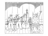 A Surprise Guest. - New Yorker Cartoon Premium Giclee Print by Jack Ziegler