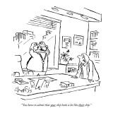 """You have to admit that your chip looks a lot like their chip."" - New Yorker Cartoon Premium Giclee Print by Sidney Harris"