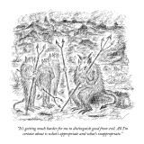 """""""It's getting much harder for me to distinguish good from evil. All I'm ce…"""" - New Yorker Cartoon Premium Giclee Print by Edward Koren"""