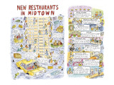 """New Restaurants In Midtown."" - New Yorker Cartoon Premium Giclee Print by Roz Chast"