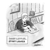 """Barry Leffler Stunt Lawyer"" - New Yorker Cartoon Premium Giclee Print by C. Covert Darbyshire"