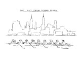 The 8:17 From Dobbs Ferry - New Yorker Cartoon Premium Giclee Print by Stuart Leeds