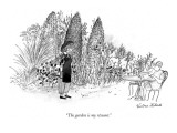 """The garden is my résumé."" - New Yorker Cartoon Premium Giclee Print by Victoria Roberts"
