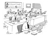 Accounting Fantasy Camp - New Yorker Cartoon Premium Giclee Print by Leo Cullum