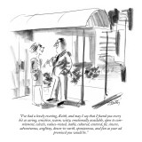"""I've had a lovely evening, Keith, and may I say that I found you every bi…"" - New Yorker Cartoon Premium Giclee Print by Donald Reilly"