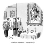 """Can we be seated under a vegan painting?"" - New Yorker Cartoon Premium Giclee Print by Mike Twohy"