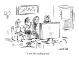 """ I love this reading group."" - New Yorker Cartoon Premium Giclee Print by David Sipress"