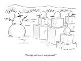 """Nobody told me it was formal!"" - New Yorker Cartoon Premium Giclee Print by Danny Shanahan"