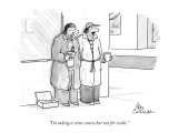 """I'm taking a wine course but not for credit."" - New Yorker Cartoon Premium Giclee Print by Leo Cullum"