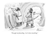 &quot;Enough storyboarding.  Let&#39;s shoot something.&quot; - New Yorker Cartoon Premium Giclee Print by Leo Cullum