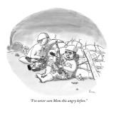 """I've never seen Mom this angry before."" - New Yorker Cartoon Premium Giclee Print by Zachary Kanin"