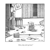 """Artie, they took my bowl."" - New Yorker Cartoon Premium Giclee Print by Harry Bliss"