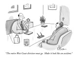 """""""The entire West Coast division must go.  Make it look like an accident."""" - New Yorker Cartoon Premium Giclee Print by Leo Cullum"""