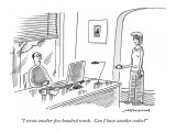 """I wrote another five hundred words.  Can I have another cookie?"" - New Yorker Cartoon Premium Giclee Print by Mick Stevens"