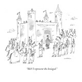 """Me? I represent the besieged."" - New Yorker Cartoon Premium Giclee Print by Michael Maslin"