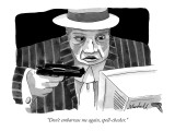 """Don't embarrass me again, spell-checker."" - New Yorker Cartoon Premium Giclee Print by Marshall Hopkins"