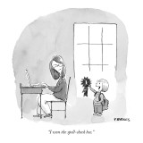 """I won the spell-check bee."" - New Yorker Cartoon Premium Giclee Print by Pat Byrnes"
