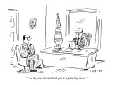 """I see by your résumé that you're a friend of mine."" - New Yorker Cartoon Premium Giclee Print by David Sipress"