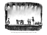 """O.K., Willy, drag yourself to the table and collapse in despair.  Enter B…"" - New Yorker Cartoon Premium Giclee Print by Robert Weber"