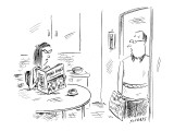 Concerned husband finds wife reading 'Men's Fault Magazine.' - New Yorker Cartoon Premium Giclee Print by David Sipress