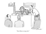 """Your Honor, wrong robe."" - New Yorker Cartoon Premium Giclee Print by Leo Cullum"
