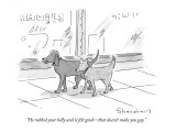 """""""He rubbed your belly and it felt good—that doesn't make you gay."""" - New Yorker Cartoon Premium Giclee Print by Danny Shanahan"""