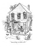 &quot;There&#39;s plenty more books inside.&quot; - New Yorker Cartoon Premium Giclee Print by George Booth
