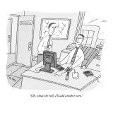 """Oh, what the hell, I'll add another zero."" - New Yorker Cartoon Premium Giclee Print by Peter C. Vey"
