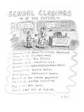 School Closings of the Future - New Yorker Cartoon Premium Giclee Print by Roz Chast