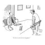 """""""Get down to sales and move the goalposts."""" - New Yorker Cartoon Premium Giclee Print by Leo Cullum"""