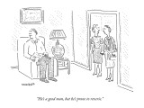 """He's a good man, but he's prone to reverie."" - New Yorker Cartoon Premium Giclee Print by Robert Mankoff"