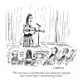 """This next one is a sad little blues tune about love and pain that I wrote…"" - New Yorker Cartoon Premium Giclee Print by David Sipress"