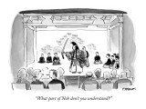 """""""What part of Noh don't you understand?"""" - New Yorker Cartoon Premium Giclee Print by Pat Byrnes"""