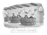 """Pete Townshend Vineyards"" - New Yorker Cartoon Premium Giclee Print by Harry Bliss"