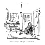 """I have a mango in the fridge that I can't deal with."" - New Yorker Cartoon Premium Giclee Print by George Booth"