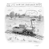The Little Engine That Coulda Woulda Shoulda - New Yorker Cartoon Premium Giclee Print by Roz Chast
