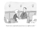 """I'd feel more comfortable if you'd move to a different table."" - New Yorker Cartoon Premium Giclee Print by Peter C. Vey"