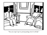 """""""You can wrap it up in a pretty package, but it's still life."""" - New Yorker Cartoon Premium Giclee Print by Bruce Eric Kaplan"""