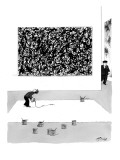 Painter in a museum copying a Jackson Pollack painting. - New Yorker Cartoon Premium Giclee Print by Harry Bliss