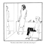 """You know what I think—if the shoe exists, buy it."" - New Yorker Cartoon Premium Giclee Print by Matthew Diffee"