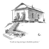 """""""I credit our long marriage to Stockholm syndrome."""" - New Yorker Cartoon Premium Giclee Print by Frank Cotham"""
