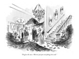 """Forgive the mess.  Warren just put everything into cash."" - New Yorker Cartoon Premium Giclee Print by Lee Lorenz"